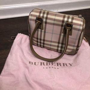 Burberry Candy Nova Check Pink Print Bag Wallet